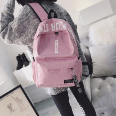 Jepang Dan Korea Selatan Anak Muda Pria SMA Perjalanan Tas Ransel Siswa Sekolah Menengah Tas (Merah Muda)