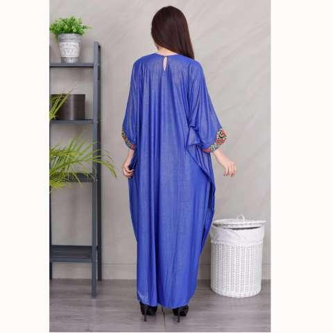 Jfashion Long dress Gamis Maxi variasi Renda tangan Panjang - Sarah 2