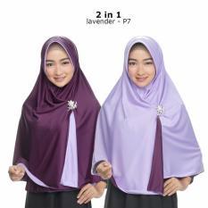 Jilbab 2 Warna  Garansi Uang Kembali  Fashion Wanita Muslim Terbaru untuk Atasan Cewek Hijab Bergo Instan Bolak Balik 2 in 1 Jumbo Syari Kerudung Besar Polos Khimar