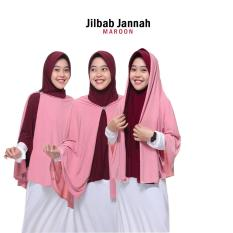 Jilbab 2 Warna Zannah Hijab Jilbab Mukena Jannah Fashion Muslim Masa kini Modern Atasan Jilbab Anak Perempuan Jumbo Syari