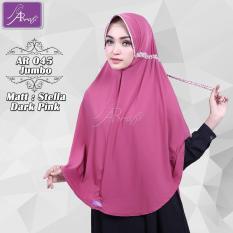 Jilbab Instan Arrafi Talita Jumbo (warna Dark Pink) Ar45JB jilbab khimar bergo kerudung syari cadar