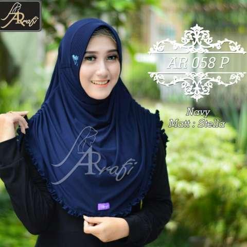 Hijab instant Rumana Rempel Arrafi (warna Pink) - AR58p - hijab jilbab  instan khimar 506646d209