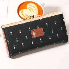 Jims Honey -  Cute Floral Fashion Wallet – Anna Wallet (Black)