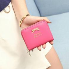 Jims Honey  - Dompet Kecil Fashion – Mini Ribbon Wallet (Hotpink)