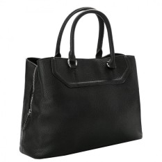 JMKJ Mangga Pebbled Square Tote Bag (Hitam)-Intl