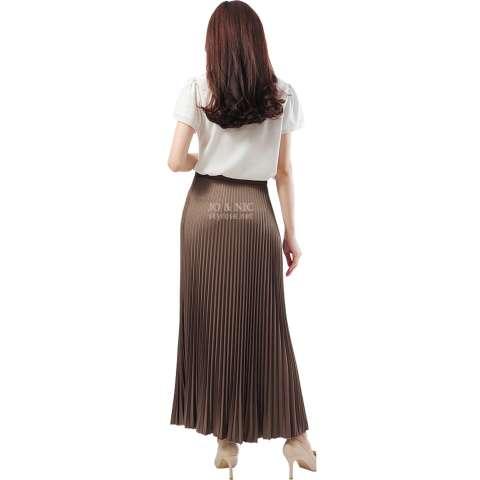 JO & NIC Pleated Long Skirts - Rok Panjang Lipit Fit to XL - Milo 2