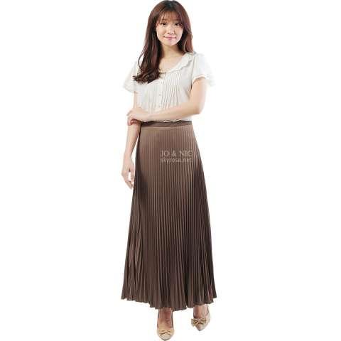 JO & NIC Pleated Long Skirts - Rok Panjang Lipit Fit to XL - Milo 1