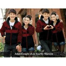 Jual Couple Jaket - Jaket Couple Online - Jaket Couple Cleo YouMe maroon