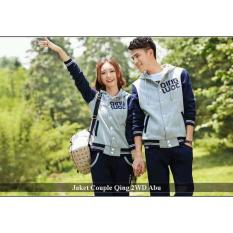 Jual  Couple Jaket - Sweater couple online - Jaket Couple Qing 2WD Abu