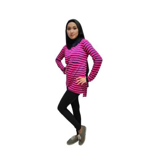 Just Mom Tanaya Baju Menyusui Lengan Panjang ? Pink 1