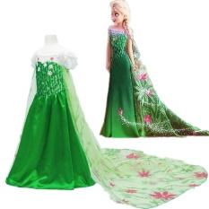 Allwesome Kartun Gaun Putri Baju Pesta Cosplay Dress Pernikahan Malam Girls Dress-BX1680-Intl