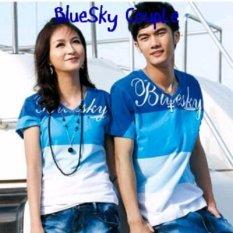 Kaos  Couple Murah  Baju Pasangan Keren   Bluesky Couple