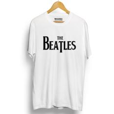 Kaos Distro The Beatles - T-Shirt - Putih