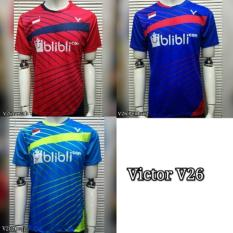 Kaos Jersey Olahraga Badminton / Bulutangkis Victor V26
