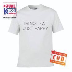 Kaos JP Jual Kaos Jualkaos murah / Terlaris / Premium / tshirt / katun import / lelinian / terkini / keluarga / pasangan / pria / wanita / couple / family / anak / surabaya / distro / i'm just Happy not / no fat