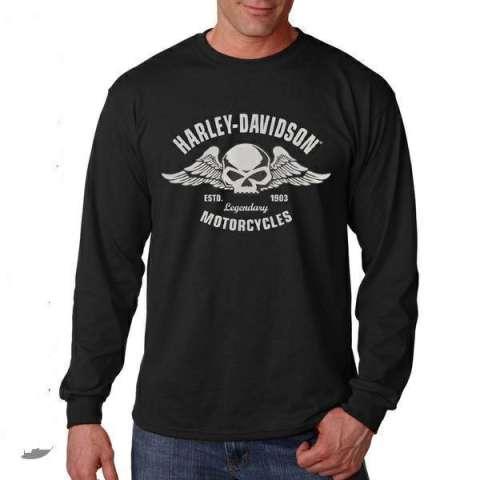 Harga Kaos Long Sleve Harley Davidson Best Qualityint One Sizeoverseas Harga Rp 129.000