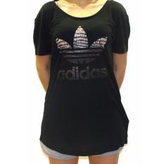 Adidas Kaos Foil Logo Ay5005 Hitam Daftar Harga Terkini dan Source · Kaos Olahraga NY TREFOIL