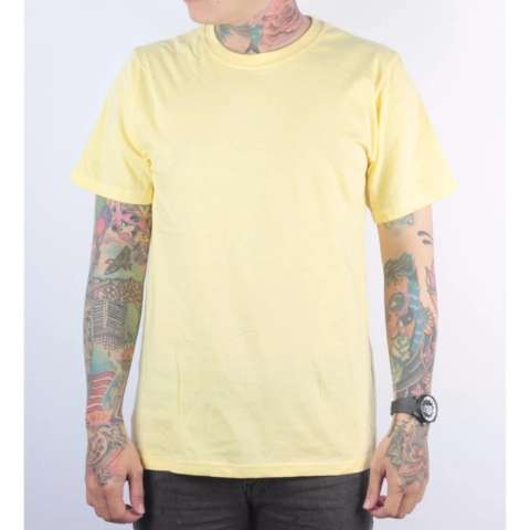 KAOS POLOS KUNING COTTON COMBED 30S SOFT REAKTIF