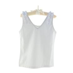 Katun Renda Anak Perempuan Baju Dalaman Rompi Kecil (Elegan Putih)