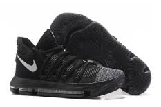 KD 10/Ⅹ EP GSW Kevin Durant 10 Sepatu Bola Basket Resmi Pria Sneakers NBA Sport Sepatu Apa Yang Durant Elite Gaya Baru (Hitam) -Intl