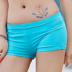 Kebugaran Perempuan Terpisah Terlihat Langsing Lengan Panjang Petinju Baju Renang Baju Renang (Celana Pendek)