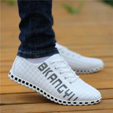 Kebugaran Pria Musim Semi Dan Musim Gugur Baru Sepatu Trendi Kasual Sepatu Kulit (F50 Putih)