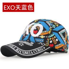 Kebugaran wanita Musim Semi dan Musim Gugur Hari Korea Fashion Style bisbol topi topi (EXO langit biru)