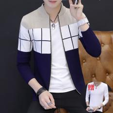 Kecil Segar Baru Musim Semi Dan Musim Gugur Korea Fashion Style Kemeja Rajut Sweater Pria (Warna Beras (9321))