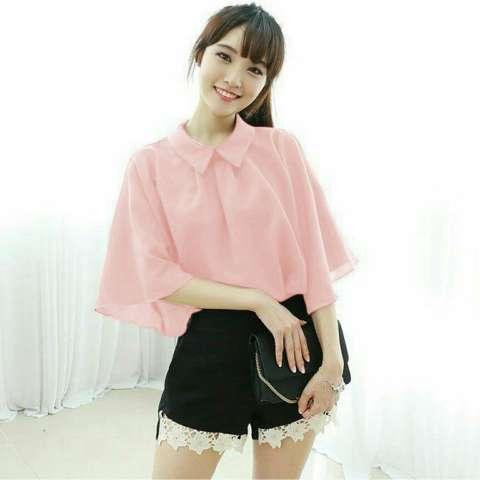 Harga Kedai Baju Blouse Murah Atasan Wanita Gigi Blouse Peach Harga Rp 48.100