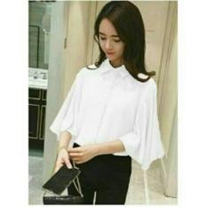 Kedai_Baju Blouse Wanita Dita / Blouse Cewek / Shirt Wanita / Blouse Korean Style / Blouse Modern / Sabrina Wanita NR - Putih