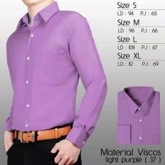 Kedai_Baju Kemeja Formal Polos Lengan Panjang - Ungu Muda (37) - Size S