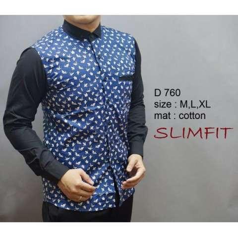 Harga Baju Kemeja Baju Batik Pria Lengan Panjang Slim Fit D 760 Harga Rp 192.000