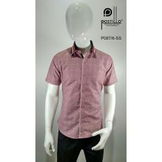 Kemeja Fashion Pria Slim Fit Postillo P087-6-SS