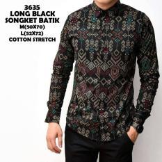 Kemeja batik songket pria slimfit / baju atasan batik pria / kemeja pria murah batik songket 3635
