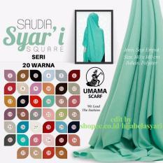 Kerudung Segiempat Saudia Syari Umama Jumbo Seri Warna/ Jilbab Segi Empat/ Jilbab Segiempat