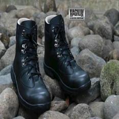 Kickers Magnum Black Safety Leather Boots Sepatu Kerja Lapangan Outdoor