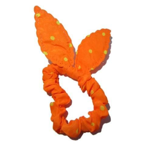 Kim Collections Aksesoris Ikat Rambut - Gelang Tangan Fashion Wanita Model Telinga Kelinci KAR011 - Orange