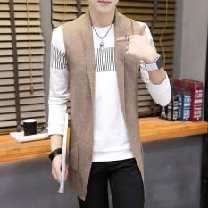 Korea Fashion Style Musim Gugur Bagian Panjang Sweter Jubah Korea Fashion Style Kemeja Rajut (Q6619 Khaki)