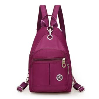 Korea Fashion Style perempuan baru mini kecil tas ransel tas ransel (Yang mendalam ungu)