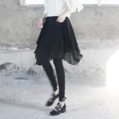 Korea Fashion Style Sifon Baru Rok Wanita Celana (Hitam)