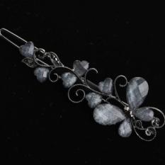 Versi Korea dari Diamond Korean Bow Aksesoris Rambut Jepit Rambut Sisi Clip Bangs Clip Duckbill Clip Bulang Rambut Wanita- INTL