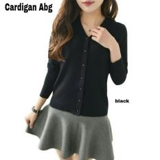 Ladies Fashion Cardigan Abg / Sweater Lengan Panjang / Baju tebal hangat / Polos / Baju Rajut (ABG) NR - HITAM