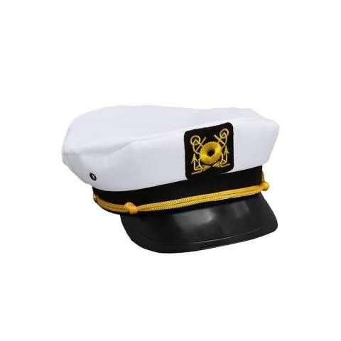 LALANG Adjustable Yacht Topi Kapten Kapal Sailor Cap Costume Party Putih 5672a1ee46