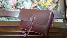 Lefriadi.shop - Tas Handmade Fashion Wanita Tas Selempang Bahu / Slingbag Simple Keche Coklat Berry