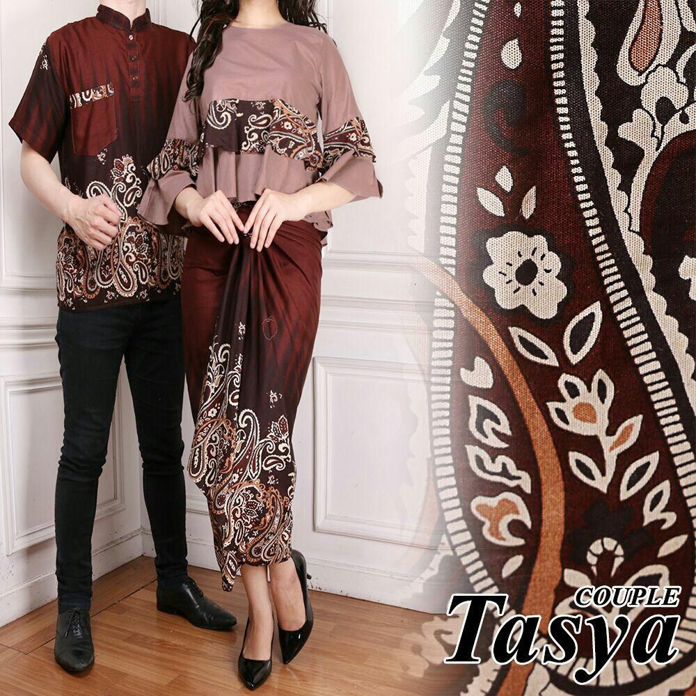 LF Batik Wanita Couple Raisa / Kemeja Pria Gamis Muslim / Kebaya Dress Wanita Batik Pasangan