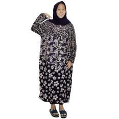 Longdres Jumbo Batik, Daster Lengan Panjang Jumbo, Baju Tidur, Piyama, Kancing, Daster Bumil, Busui (LPT003-10)