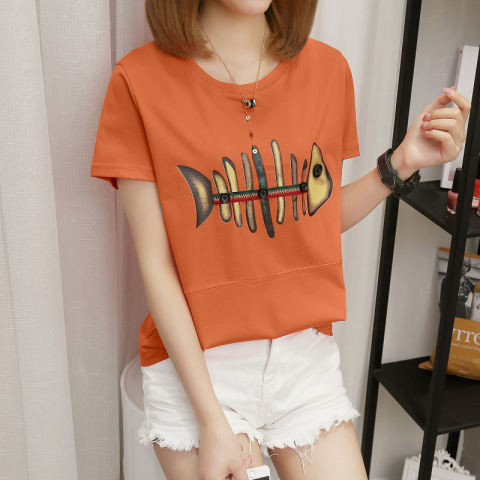 Home; LOOESN Korean-style short sleeved t-shirt New style Top (271