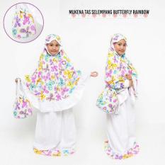 Madeena - Mukena Anak Karakter Butterfly Rainbow - Tas Slempang