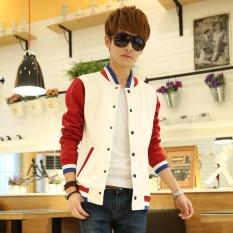 Pria sweater Anak Muda Coat Jaket Slim Sport Cardigan Mantel-Intl
