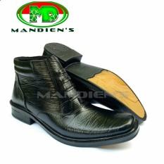 Mandiens PDH 03-KY Sepatu Kulit Asli Boots Pria TNI Polri – Hitam